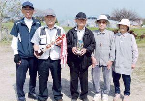 兵庫町老人クラブ東部二長生会GG大会の上位入賞者