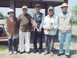 兵庫町老人クラブ東部二GG4月大会の上位入賞者