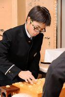 惜しくも名人位を逃した牟田有之介四段=佐賀市の旅館あけぼの