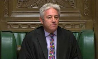 離脱採決、英下院議長が不許可