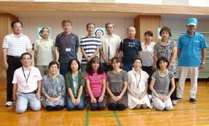 スポーツ吹き矢  佐賀市スポーツ吹矢協会初心者体験教室大会の参加者