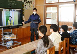 佐賀のニュース リモート学習で「歴史探訪」 大山小児童