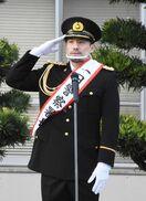 バルーナーズ小松主将が一日警察署長 年末年始警戒パトロー…