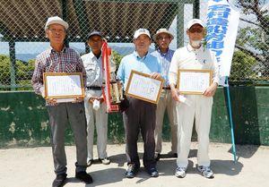 名村造船伊万里OB会GG大会の上位入賞者