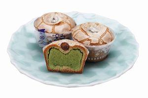 期間限定で新発売された伊万里焼饅頭の緑茶味