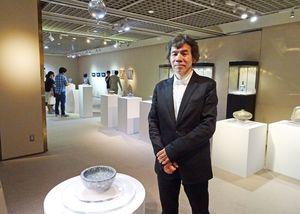 日本橋三越本店で作陶展を開いた葉山有樹さん=東京・日本橋室町