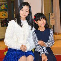 3月にニューヨークの映画祭に出展される「葵色百葉 WAKE-UP!!」の原作・脚本・主演を務めた永瀬葵さん(左)。右は作品で共演した愛純百葉(あすみ・ももは)さん=小城市