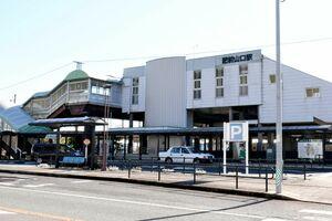 「江北駅」に改称するための関連議案が杵島郡江北町議会で可決されたJR肥前山口駅=同町