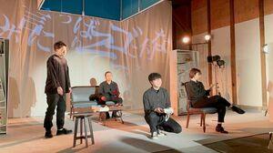 演劇ユニット「斜陽motion picture sound track」による舞台「完璧な庭」の一場面(提供写真)
