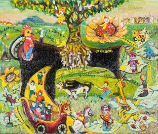 藤井節さん(玄海町)「越後湯沢全国童画展」で大賞
