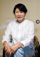 「女性が振り袖を着ることができて本当によかった」と話した原口敏子さん=三養基郡みやき町