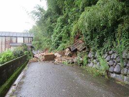 昨年8月末豪雨で土砂災害が発生した現場=白石町堤船野地区(同町提供)