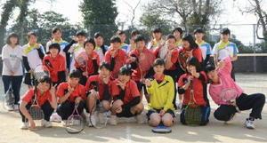 明るい雰囲気を大切にしている唐津五中女子ソフトテニス部
