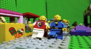ブロック玩具で制作したアニメーションの一部