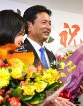 <知事選>山口氏が再選 今田氏に…
