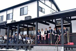 新たな集客拠点としての期待を込め、オープンした「BASE ogi」=小城市小城町