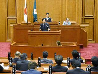 知事、経済面考慮せず 県議会一般質問