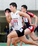 桐生が10秒21で予選トップ