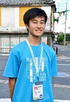 小城コースの担当リーダーを務めた佐賀工3年の德島拓海さん