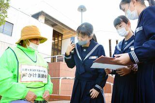 声を掛けて関係機関に電話 認知症患者の事故防止で訓練・吉野ヶ里町