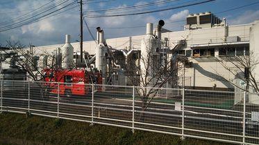 大町町のパナソニック工場で火災