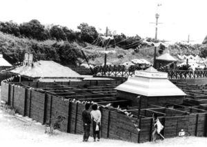「宝島」の物語をイメージした海浜公園の目玉「冒険迷路」