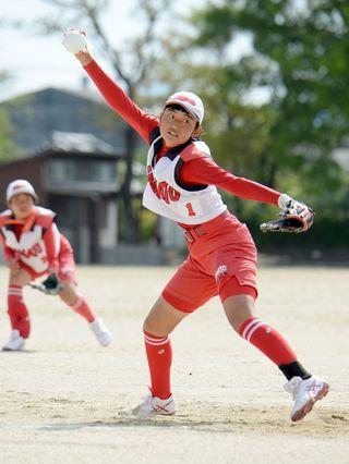 県中学女子ソフトボール 大和2年ぶりV