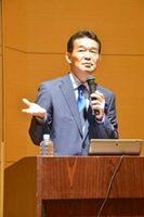 10月に唐津市で講演した酒井氏