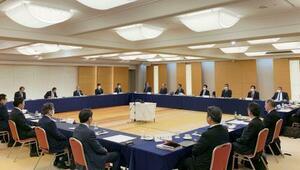 新型コロナウイルス感染拡大を受け開かれた、プロ野球の12球団代表者会議=3日、東京都内(日本野球機構提供)