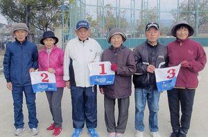 県高齢者大学佐賀校16期会GG1月例会の上位入賞者