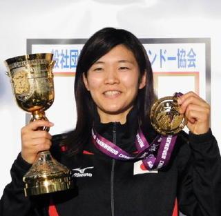 テコンドー濱田選手帰国会見 佐賀から世界一誇る