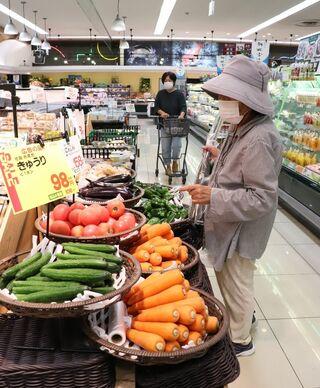 <佐賀2021大雨>キュウリの卸値、最大6倍 夏野菜高騰、大雨で品薄に