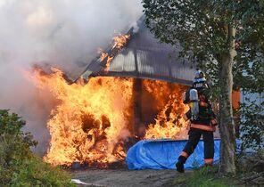民家火災、離れ全焼 20日、鳥栖市