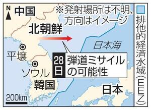 北朝鮮、日本、排他的経済水域(EEZ)