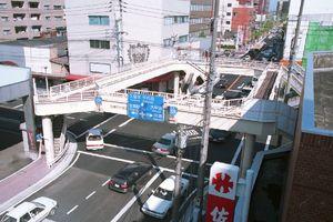 地元の要望を受けて県が撤去方針を固めた歩道橋=平成10年10月撮影、佐賀市片田江