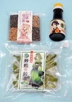 神羅カンパニーが提案したアニメキャラクターをパッケージに採用した県内企業の商品