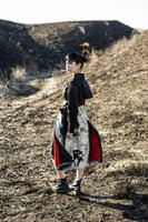 着物を再利用して作られたドレス