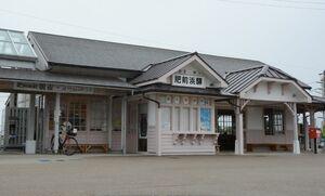 九州新幹線長崎ルートの暫定開業後も電化設備が維持されることになったJR肥前浜駅=鹿島市浜町