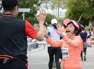 「がんばりんしゃい」増田明美さん声援