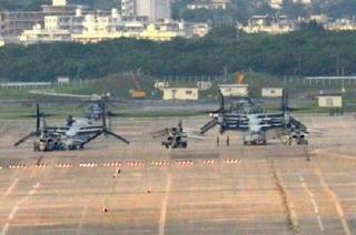 米軍、オスプレイ1機が普天間離陸 自粛要請拒否
