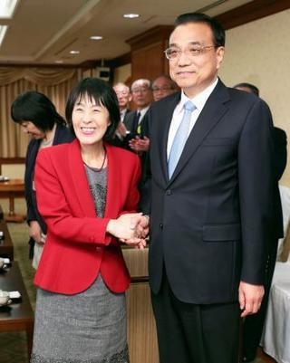 中国首相、北海道知事と会談