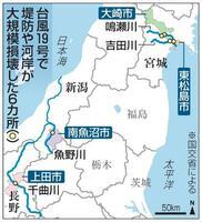 台風19号で堤防や河岸が大規模損壊した6カ所