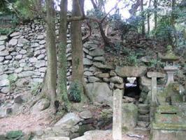 「続日本100名城」に選ばれた基肄城跡の南側にある水門跡
