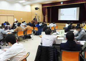 活動の基本姿勢などを学んだ「DPAT」の隊員研修会=吉野ヶ里町の肥前精神医療センター