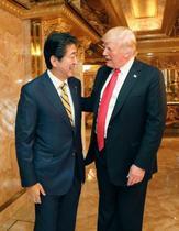 日米首脳「貿易で建設的議論」
