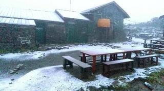 大雪山系黒岳で初雪、北海道