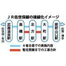 新幹線長崎ルート 複線化「大町-高橋」に短縮 国交省、計…