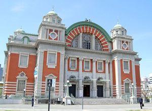 辰野金吾が設計に関わった大阪市中央公会堂。昨年、開館100周年を迎えた=大阪市北区中之島