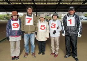 温泉GB12月例会で優勝した吉田チーム