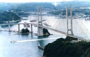 新さが百景で1位になった呼子大橋=平成10年1月撮影、呼子町